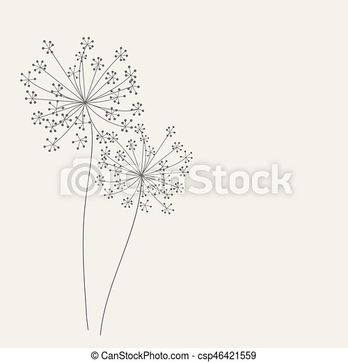 Abstract background with flowers. Vector illustration - csp46421559