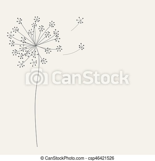 Abstract background with flowers. Vector illustration - csp46421526