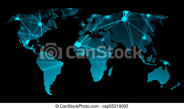 Abstract background with futuristic world map technology concept abstract background with futuristic world map technology concept backdrop 3d rendering csp55319093 gumiabroncs Choice Image