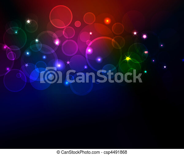 abstract background with glowing dots, eps10 format - csp4491868