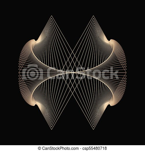 abstract background with golden lines - csp55480718