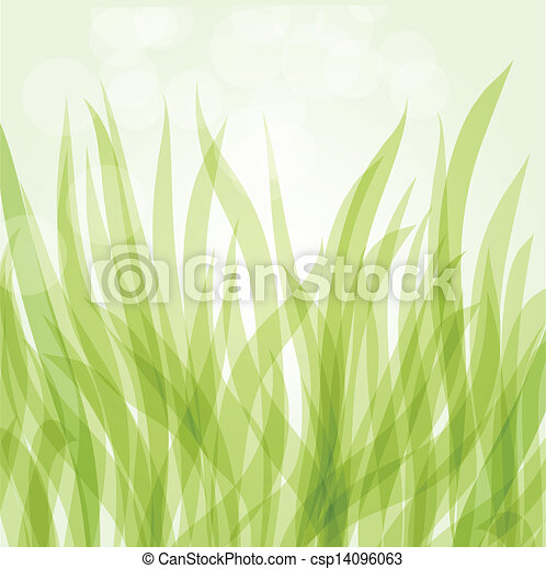 Abstract background with green flowers - csp14096063
