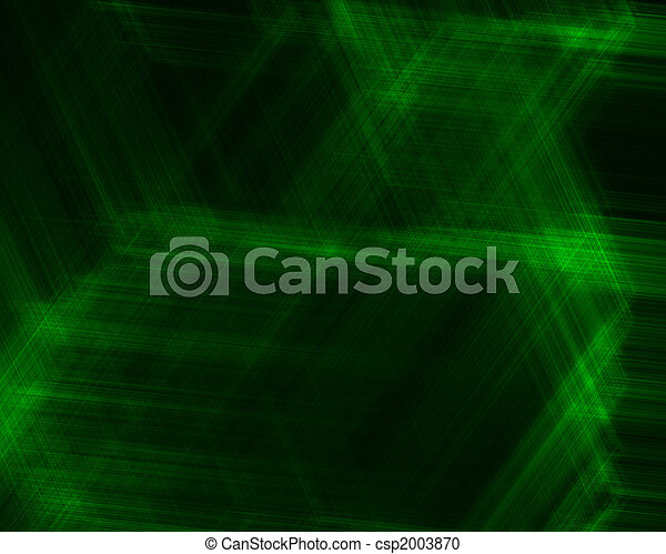 Abstract background with green lines - csp2003870