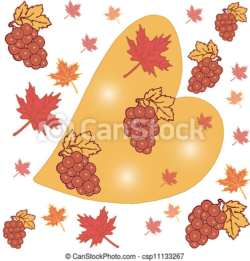 Abstract background with leaves,  - csp11133267