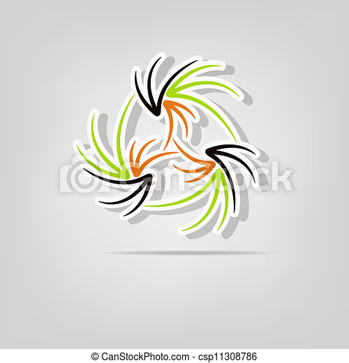 Abstract background with lines - csp11308786