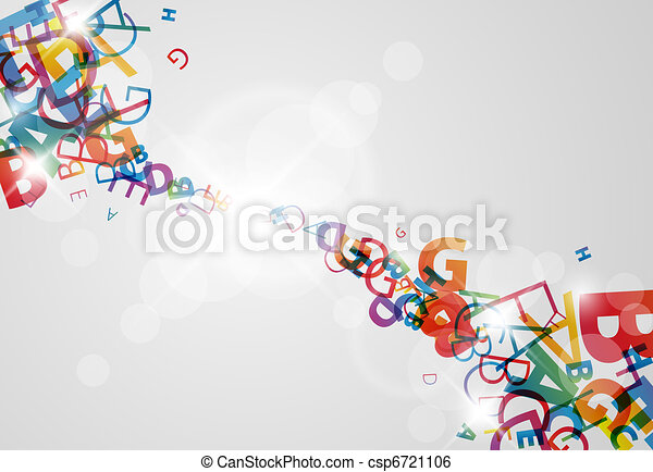 Abstract background with numbers and place for your content - csp6721106