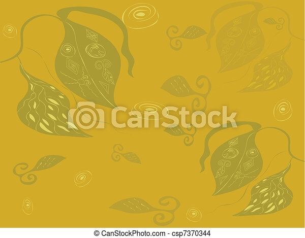 Abstract background with plants - csp7370344