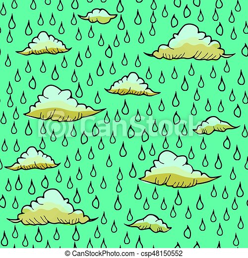 Abstract background with rain and cloud - csp48150552