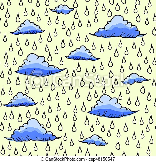 Abstract background with rain and cloud - csp48150547