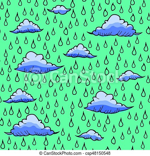 Abstract background with rain and cloud - csp48150548