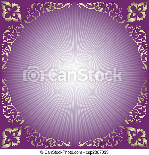 Abstract  background with rays (vector) - csp2867033