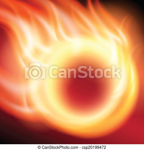 Abstract background with ring of fire - csp20199472