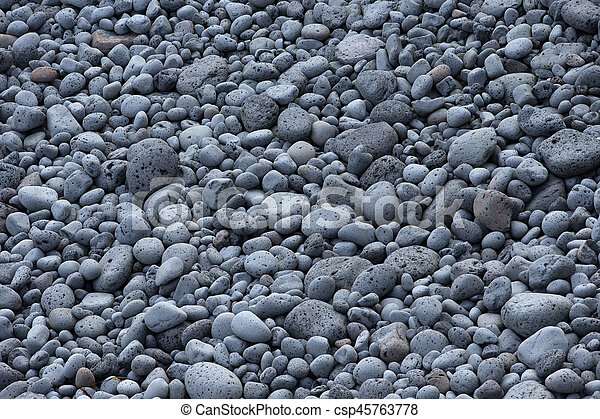 Abstract background with round peeble stones - csp45763778