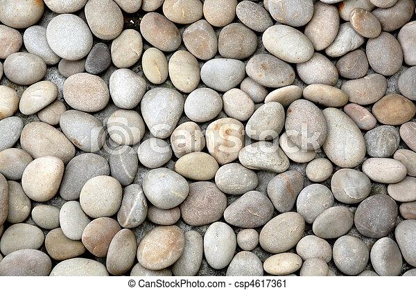 abstract background with round peeble stones - csp4617361