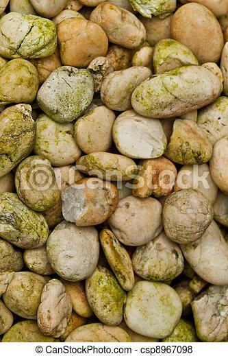 abstract background with round peeble stones - csp8967098