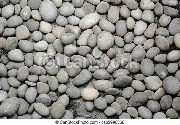 abstract background with round peeble stones - csp3996366