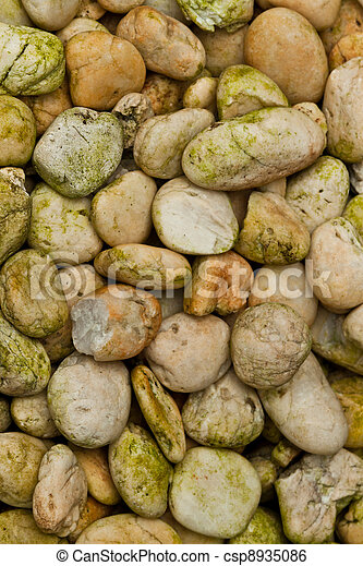 abstract background with round peeble stones - csp8935086