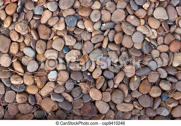 abstract background with round peeble stones  - csp9410246