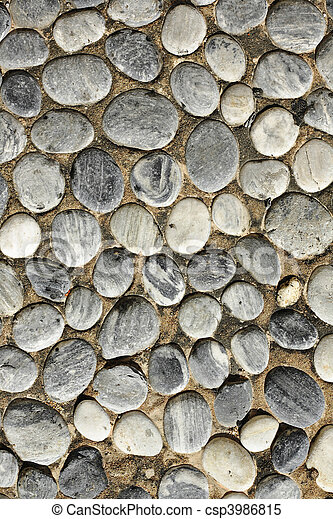 abstract background with round peeble stones - csp3986815