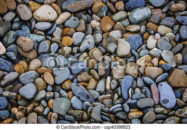 Abstract background with round peeble stones - csp40398823