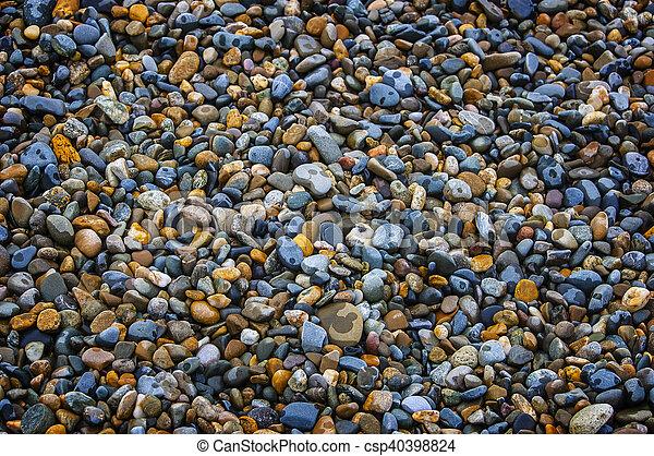Abstract background with round peeble stones - csp40398824