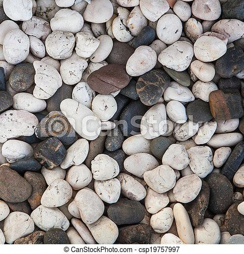 abstract background with round peeble stones - csp19757997