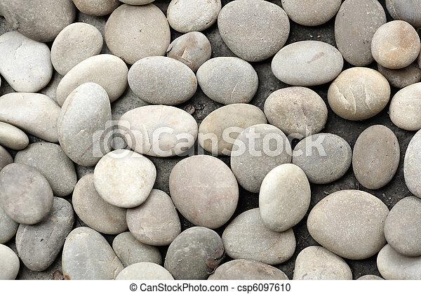 abstract background with round peeble stones - csp6097610