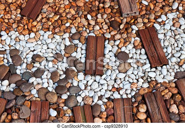 abstract background with round peeble stones  - csp9328910