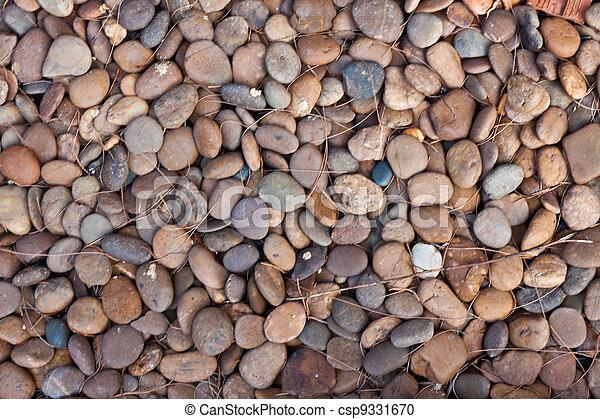 abstract background with round peeble stones  - csp9331670