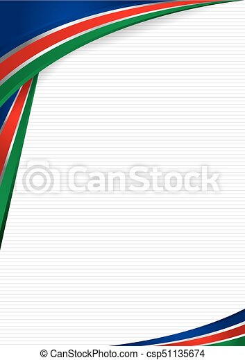 Abstract background with shapes with the colors of the flag of Namibia, to  use as Diploma or Certificate  Format A4  Vector image