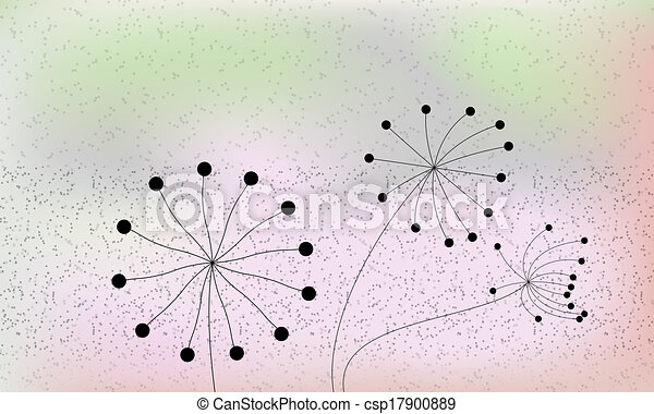 abstract background with silhouettes of plants - csp17900889