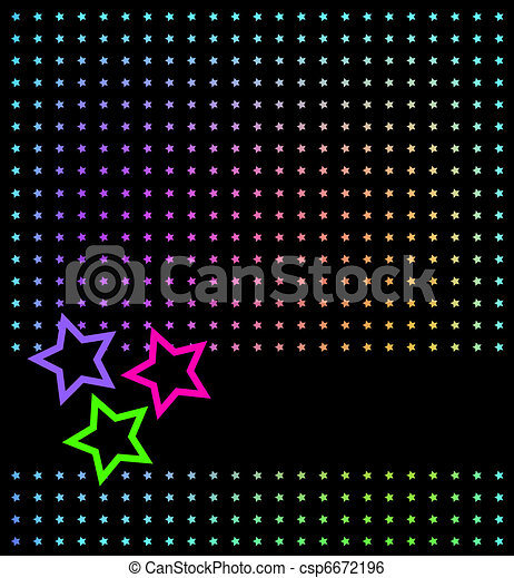 Abstract background with stars - csp6672196