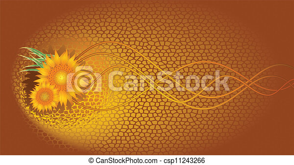 Abstract background with sunflowers - csp11243266