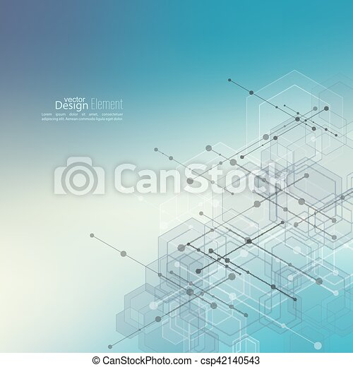 Abstract  Background with transparent cubes - csp42140543