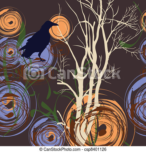 Abstract background with tree and c - csp8401126