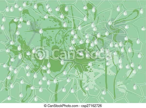 abstract background with water drops - csp27162726