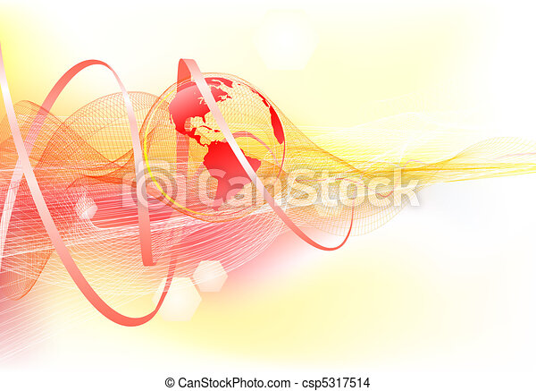 Abstract background with world globe - csp5317514
