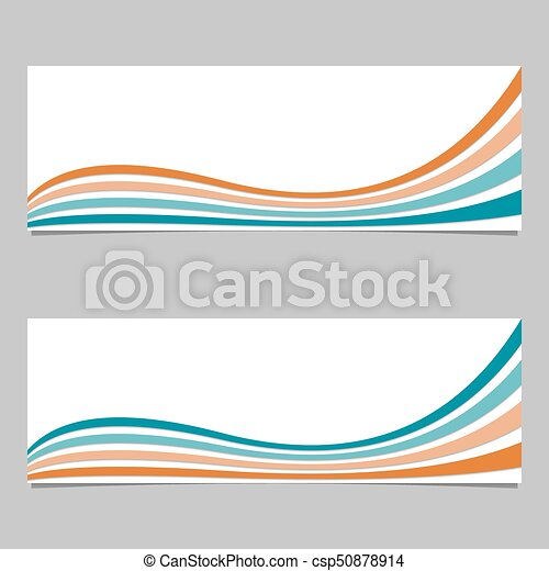 Abstract banner background from wave stripes - vector design with 3d shadow  effect