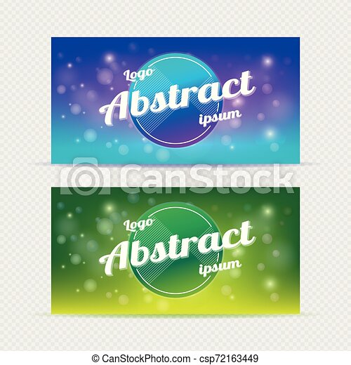 Abstract banner backgrounds light - csp72163449