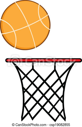 abstract basketball hoop with ball illustration isolated on rh canstockphoto com basketball net clipart free basketball net clipart black and white