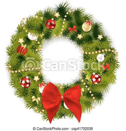 abstract beauty christmas and new year background with wreath vector illustration