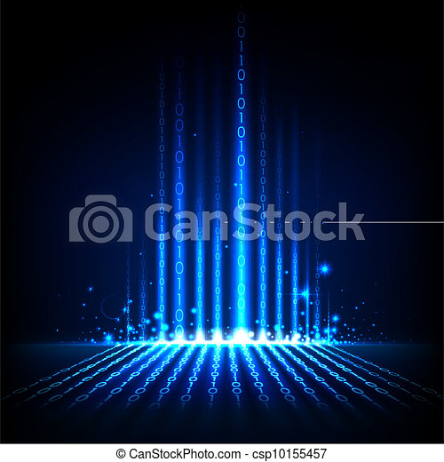 Abstract Binary Background - csp10155457