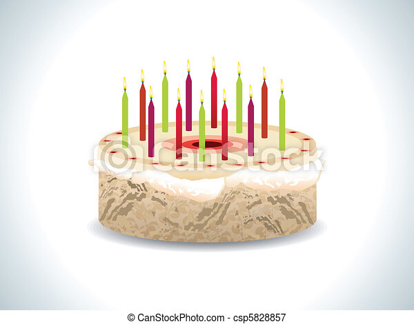 Birthday Cake Images Vektor ~ Abstract birthday cake with candles vector illustration vectors