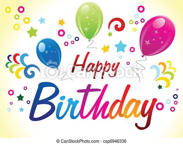 abstract birthday celebration vector illustration