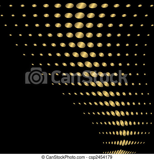 Abstract black and golden background (vector) - csp2454179