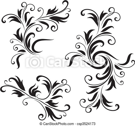 Abstract Black And White Design Pattern Original Vector Illustration