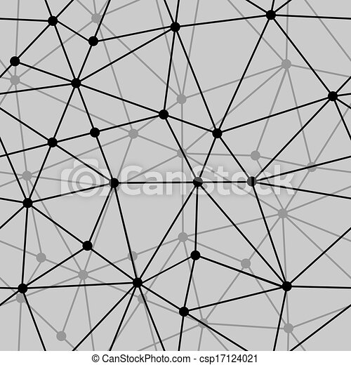 abstract black and white net seamless background - csp17124021