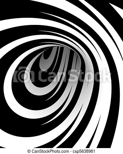 Abstract black and white spiral - csp5638981