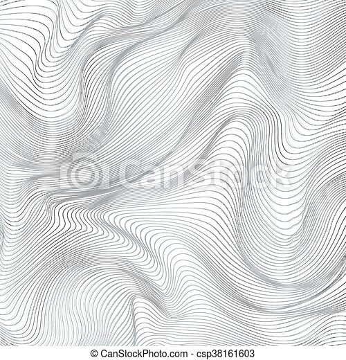 Abstract black and white stripes vector background - csp38161603