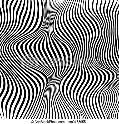 Abstract black and white stripes waves background - csp31689551